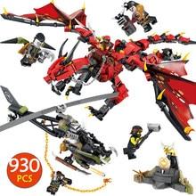 Фильмы пламя Spys Бог Дракон строительные блоки Совместимые LegoINGlys Ninjago Рыцари цифры руки игрушки для мальчиков Подарки