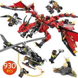 Movies Flame Spys God Dragon Building Blocks Compatible LegoINGlys Ninjago Knights Figures Arms Toys For Boys Gifts