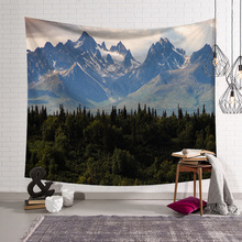 Mountains Landscape Forests Tapestry Wall Hanging Tapestries Hippie Hippy Wallpaper Home Decoration Table Cloth tapiz pared hanging mountains boat lake wall tapestry