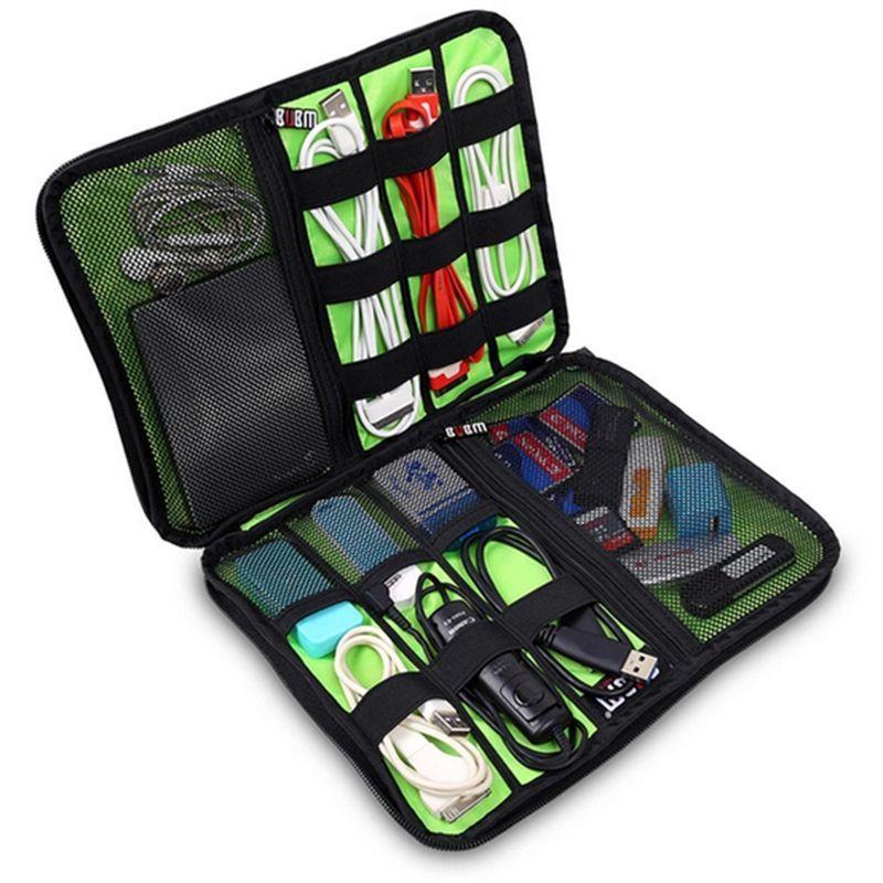 Fesyen Organizer System Kit Kes Penyimpanan Beg Peranti Digital USB - Aksesori komputer riba