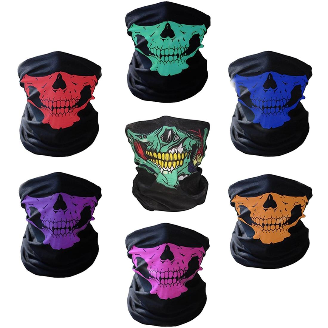 Beautiful 1pc Fashion Skull Masks Skeleton Outdoor Bicycle Multi Function Neck Warmer Ghost Scarves Magic Scarf Men Women More Discounts Surprises Men's Scarves