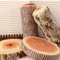 1 PC Creative Personality 3D Wood Stump Pillows Cushion Chopping Stumps Pillows Cushion Lumbar Pillow