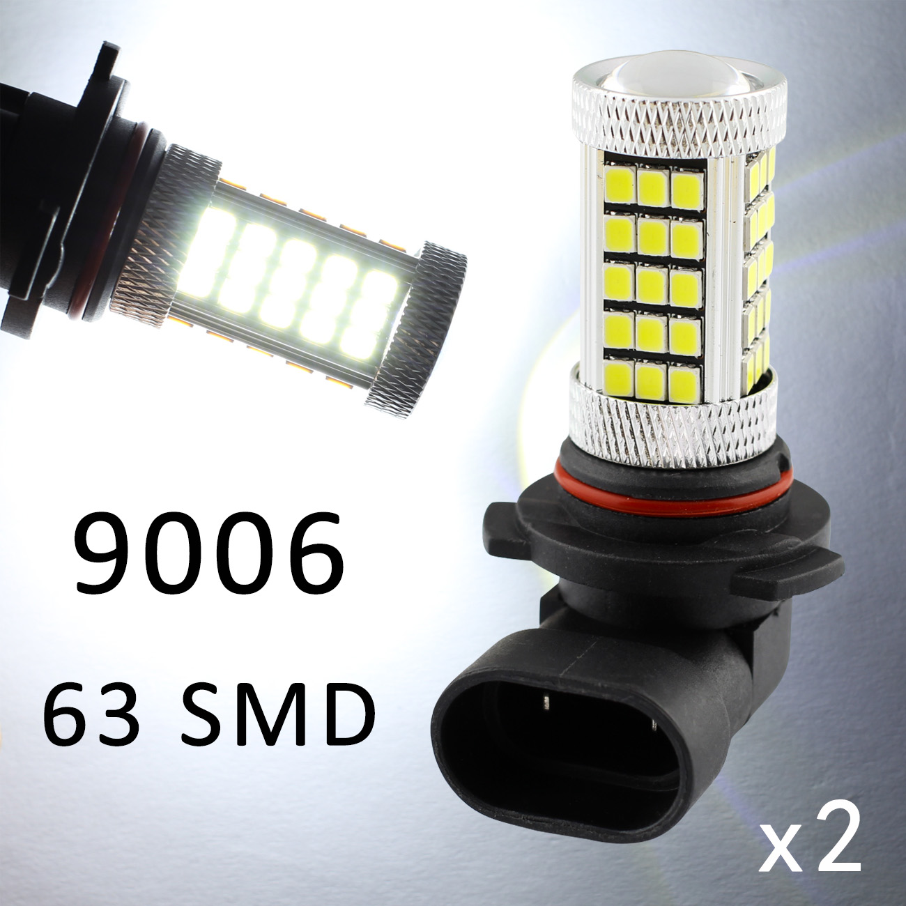 For Auto Accessories Fog Light Lamp LED 9006 9012 HB4 9006HP 9006XS DRL Driving Bulbs Lens