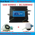 Hot Sell LCD Dual Band 3G W-CDMA 2100MHz GSM 900Mhz Cell Phone Signal Booster GSM 900 2100 UMTS Mobile Signal Repeater Amplifier