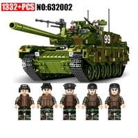 AIBOULL PLS Military 632002 1339pcs TYPE 99 Main Battle Tank Building Blocks Bricks enlighten toys for children Compatible legoe