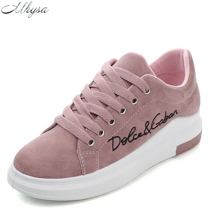 Spring New Designer Wedges Pink Platform Sneakers Women Shoes Tenis Casual Female Shoes Woman