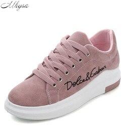 Mhysa/Новинка весны 2018 года; дизайнерские розовые кроссовки на платформе; женская Вулканизированная обувь; Tenis Feminino; повседневная женская обув...