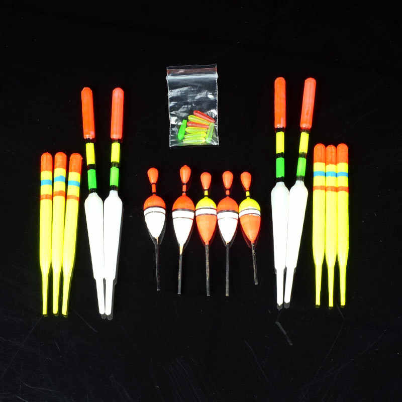 Assorted Sizes Slip Fish Drift Tube Indicator Fishing Lure Floats Bobbers 15pcs