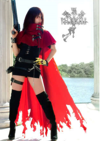 Free shipping Custom Cheap Female Vincent Valentine Cosplay Costume from Final Fantasy Type 0 Christmas