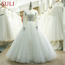 SuLi SL-219 Long Sleeve Ball Gown Wedding Dress Made In