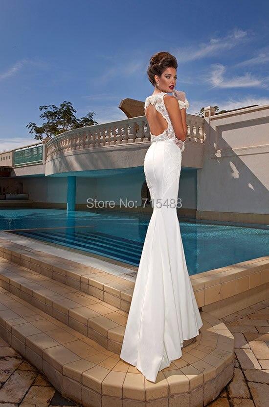Abiti Da Sera Economici Ebay.Dimitrius Dalia Detachable Train Mermaid White Indonesia Bridal