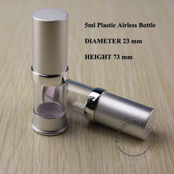 5ml Matte Silvery Emulsion Airless Bottle With Lotion Pump