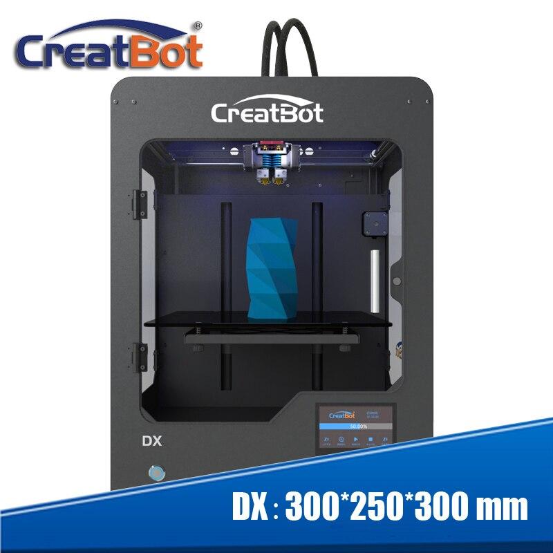 Frete grátis! nova Estrutura de Metal Impressora desktop 3D impressora de Alta Precisão Da Máquina 300*250*300 milímetros DX03 três extrusora