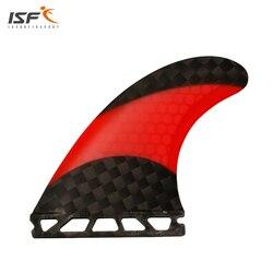Nuovo design in fibra di carbonio rosso a nido d'ape future pinne surf quilhas surf futures pranchas de surf pinne G5 per navigare con 3 pezzo