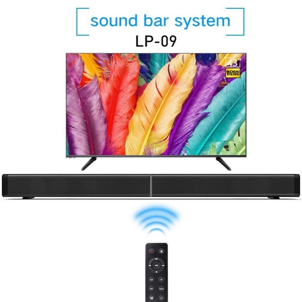 Sound Bar LP-09 Home Furniture TV Echo Wall 40W Soundbar Wall-mounted Remote Control U-disk Subwoof Bluetooth Wireless Speaker