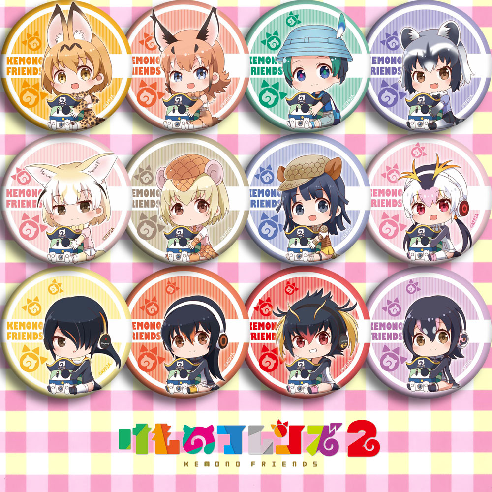 Anime Kemono Friends Leptailurus Serval Cosplay Party Bedge Cartoon Collect Bag Badge For Backpack Button Brooch Pin Xmas Gifts