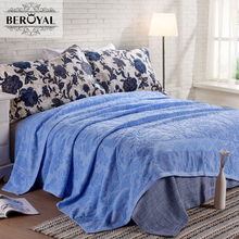 Nuevo 2017 tiro blanket-1 pieza 150*200 cm 100% manta de algodón adulto súper suave floral beroyal marca mantas manta
