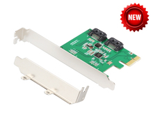 SATA III Порты и разъёмы RAID pci-e X1 карта 2-порт SATA III PCI Express Card asm 1061 Чипсет
