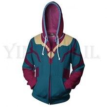 Men and Women Zip Up Hoodies The Avengers Hero Vision Cosplay Hooded Jacket Mravel Superheroes Sweatshirt Streetwear Costume