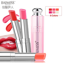 BAIMISS Lip Makeup Long-lasting Moisturizing Sexy Red Round Lipstick 3.5g Lip Balm Transparent Lip Nourish Care Beauty Cosmetic