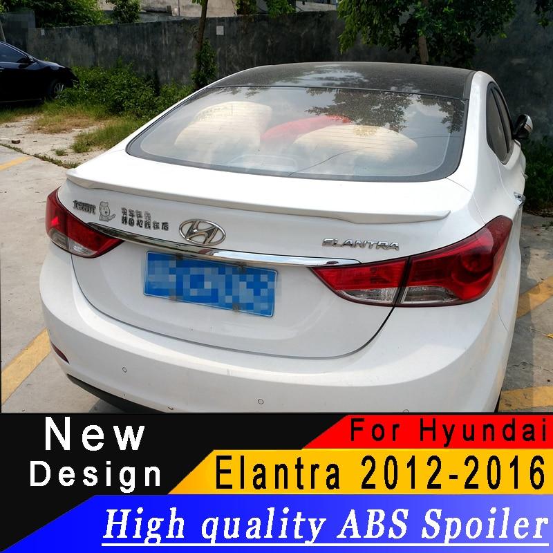 For Hyundai Elantra 2012 to 2016 Sedan Spoiler High quality ABS material Primer or any color
