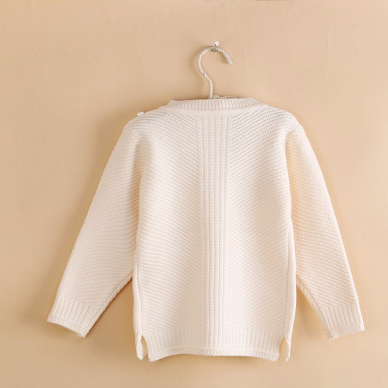 Cotton Girls Sweaters Solid O Neck Top Long Sleeve Clothes Pullover Knit Outerwear Autumn Winter Kids Sweater Children Clothing (6)