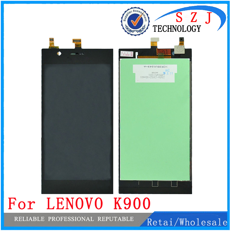 New 5.5'' inch LCD Display For LENOVO K900 Display Assembly Complete with Touch Screen Digitizer Parts Free shipping best quality working lcd display digitizer touch screen for fly iq4410 assembly complete for gionee e3 mbile phone