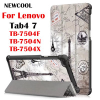 Case For Lenovo Tab 4 7 TB 7504x Leather Case Smart Cover For Lenovo TAB4 7