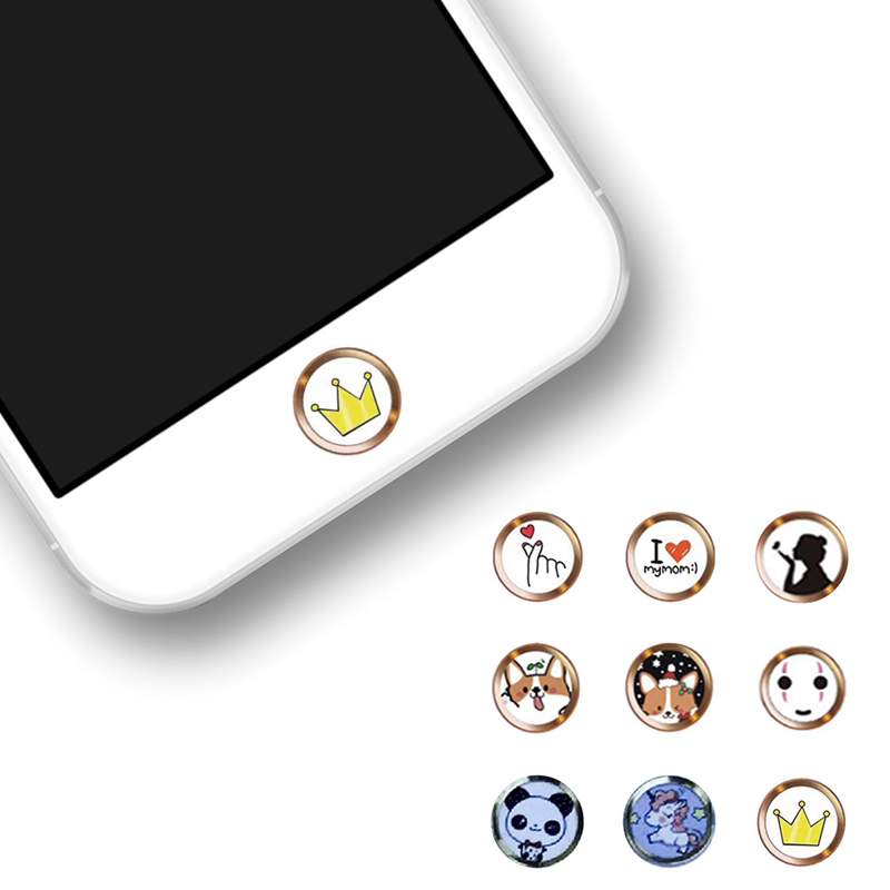 Cartoon nette ID Home Button Aufkleber Für <font><b>iPhone</b></font> 5 5S SE <font><b>6</b></font> 6S 7 8 Plus Für Ipad air 2 mini <font><b>Fingerprint</b></font> Identifikation Tastatur image
