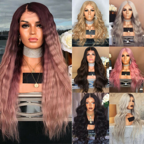 Loose Curly Long Lace Front Wig 180% Density Synthetic Hair Wigs With Baby Hair  DecorationsLoose Curly Long Lace Front Wig 180% Density Synthetic Hair Wigs With Baby Hair  Decorations