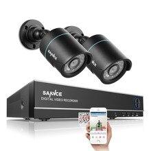 SANNCE 4CH 720 P CCTV Système 4IN1 1080N DVR 2 pcs 720 P Étanche IR Extérieur CCTV Caméras De Sécurité À Domicile Kit de Surveillance