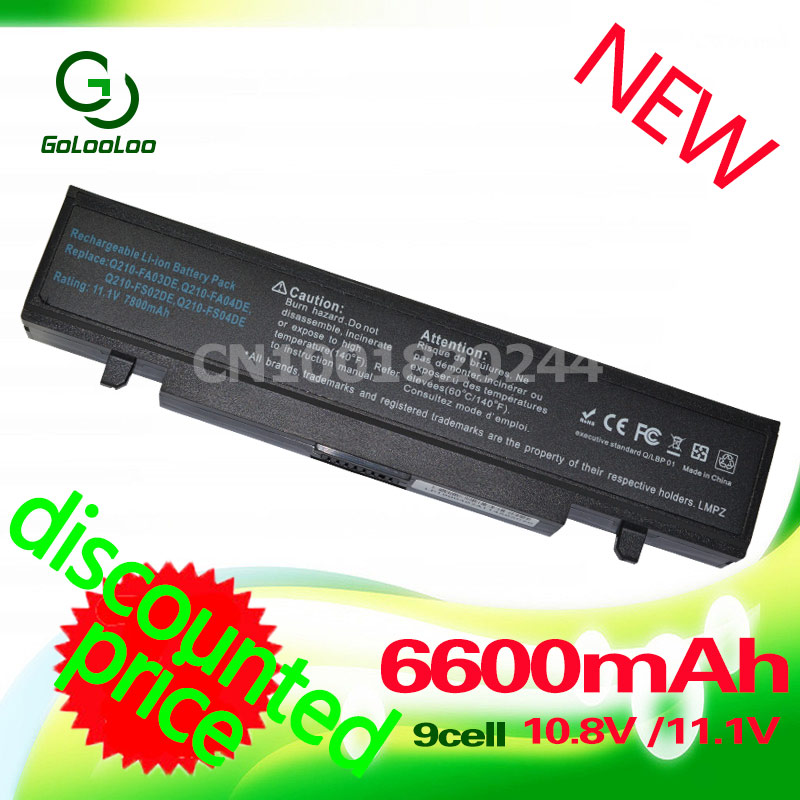 Golooloo 4400mAh Battery for Samsung AA-PB9NC6B RV520 AA PB9NC6B AA-PB9NS6W NP300E5A RF511 R425 R519 R468 RV428 RC530 np355v5c for samsung rc530 rc528 rf511 on a shell casing cover