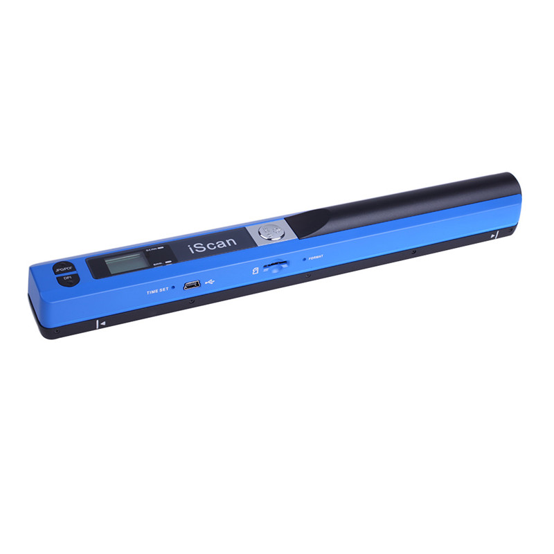 New Arrival Mini Portable Scanner Hand-held High Definition Pen Shaped Scanner 900DPI Handyscan JPEG Format A4 Document Scanner 900dpi mini handheld scanner a4 document scanner iscan01 blue