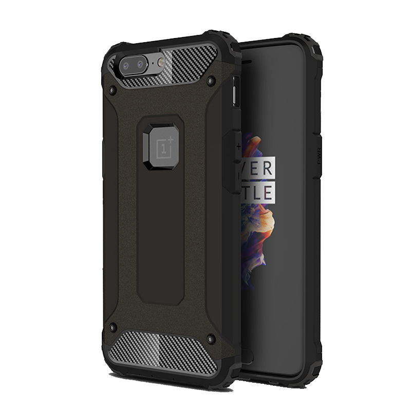 Heavy Duty Armor Phone Case For Oneplus 5 5T Dual Layer TPU Silicone Hybrid Impact Shockproof Protective Cover For One Plus 5 T