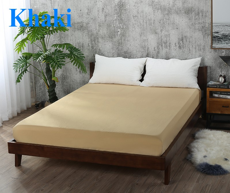Khaki bed sheet