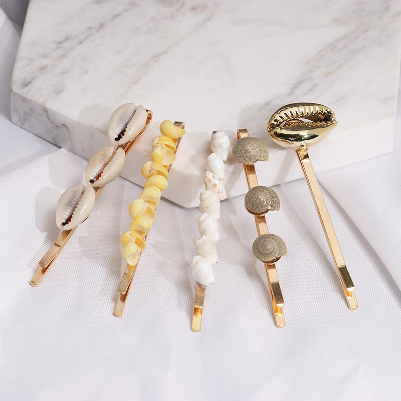 AOMU-5pcs-Women-Fashion-Imitiation-Pearl-Shell-Hairpins-Hair-Clips-Summer-Beach-Hairgrip-Hair-Accessories (2)