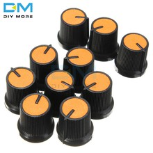 10 шт. для WH148, ручка 6 мм, оранжевая пластиковая поверхность для быстрого отверстия, регулятор громкости, ler Black CAPS Diymore