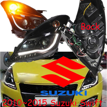 Suzuke swift headlight,2010~2015 (Fit for LHD),Free ship! swift fog light,2ps/se+2pcs Aozoom Ballast,SX 4,swift