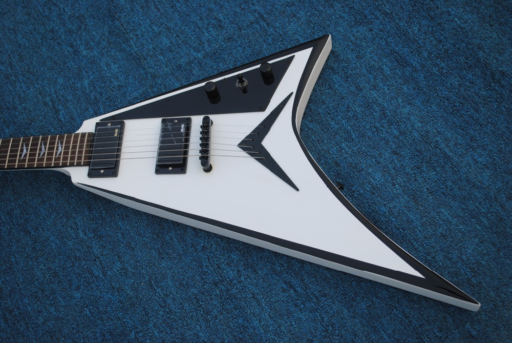 Vicers A white black side of the electric guitar best selling