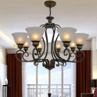 Loft Style 6 8 10 Head Suspension Wrought Iron Chandelier 110V 220v E27 Lighting Lustre Design