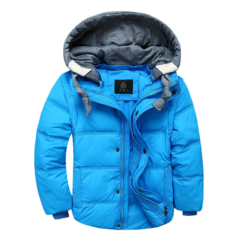 Winter down coat male child short design thickening children's clothing down vest jacket parkas фен philips bhd282 00