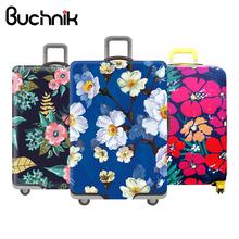 Plum Flower Travel bagaż okładka Chiński styl damskie wózek walizka pokrycie Travel Essential elastyczność Case Chroń kurz Case tanie tanio Akcesoria podróżne Elastyczna tkanina Bawełna Pokrowiec na bagaż 0 42 kg masy Kwiatowy 3741 Powiat buczy