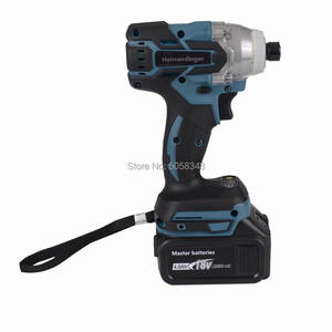 """Image 5 - Electric Rechargeable cordless and brushless 6.35mm 1/4"""" impact driver drill with two 18V 4.0Ah Lithium ion Battery"""