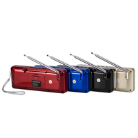Mini Portable Rechargeable Stereo FM Radio Speaker LCD Screen Support TF Card USB Disk MP3 Music