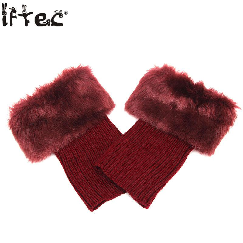 Fur Leg Warmers New Design Brand Knitted Boot Cuffs 9colors Short Boot Cuffs Winter Warm Gaiters High Quality Free Shipping