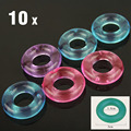 10 PCS Penis Ring Delaying Ejaculation Silicone Cock Rings Stay Hard Donuts Multi-color Sex Toys for Male and Female