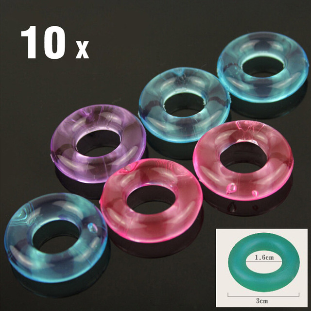 Silicone Cock Rings Stay Hard Donuts Multi-color Sex Toys
