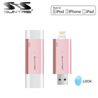 Suntrsi OTG pen drive 64gb 32gb for iphone / PC USB Flash Drive 128gb Pendrive usb 3.0 stick MFI Certifide USB Flash Free ship