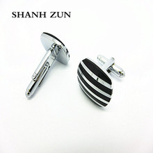 SHANH ZUN New Men Jewelry Wedding Party Stainless Steel Shirt Cufflinks Novelty Cuff Links novelty cuff links stainless steel old craftsman hand laser engraving cufflinks mans french suit accessories jewellery