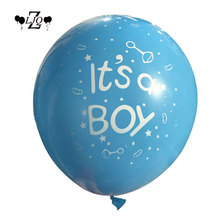 "ZLJQ Gender Reveal Party Pack Baby Shower Decorations ""Boy or Girl"" Banner and Balloons Paper Flower Ball Pregnancy Announcement"